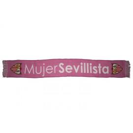 BUFANDA SEVILLA FC MUJER ROSA