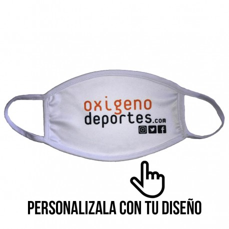 MASCARILLA ADULTO PERSONALIZADA INTERLOCK REUTILIZABLE