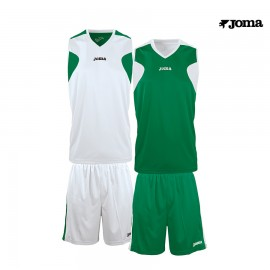CONJUNTO SET JOMA BASKET REVERSIBLE VERDE-BLANCO 1184.452