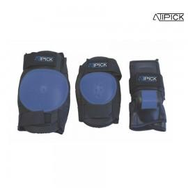 SET 3 PROTECCIONES DE PATINAJE ATIPICK JR NIÑA PAT61008-AZUL